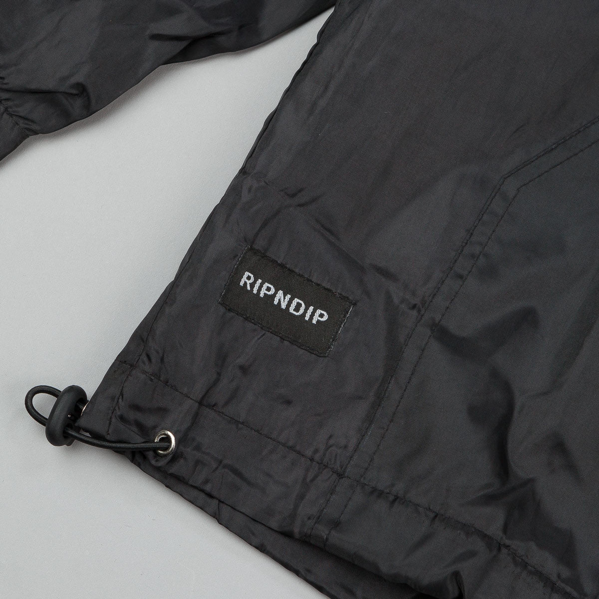 Rip N Dip Enders Hooded Rain Coat - Black