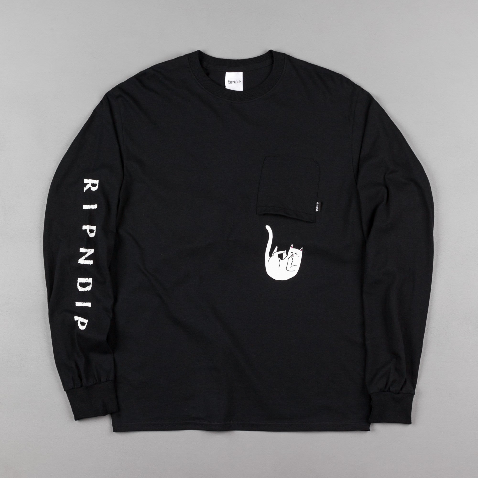 Rip N Dip Falling For Nermal Long Sleeve T-Shirt - Black
