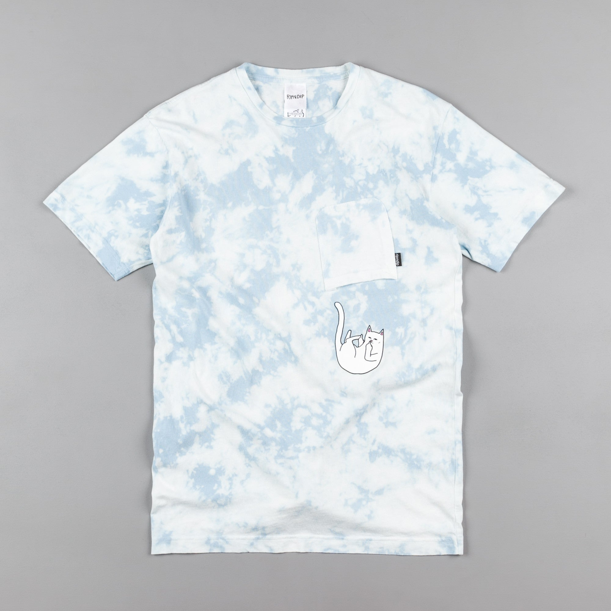Rip N Dip Falling For Nermal Pocket T-Shirt - Blue Lightning Wash