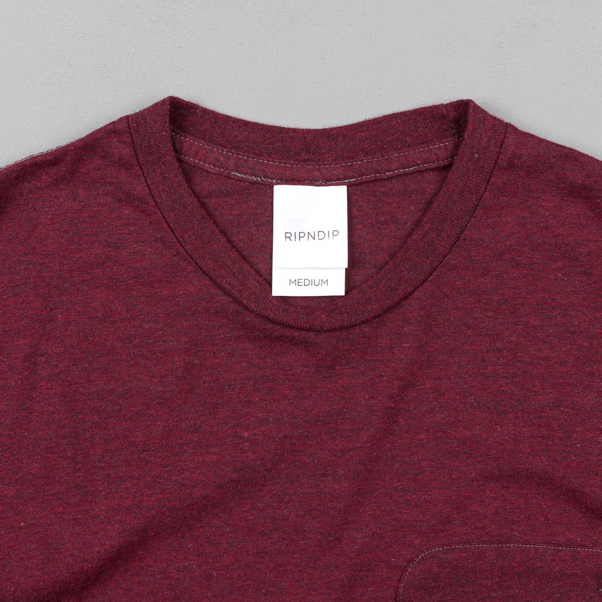 Rip N Dip Falling For Nermal Pocket T-Shirt - Burgundy Heather