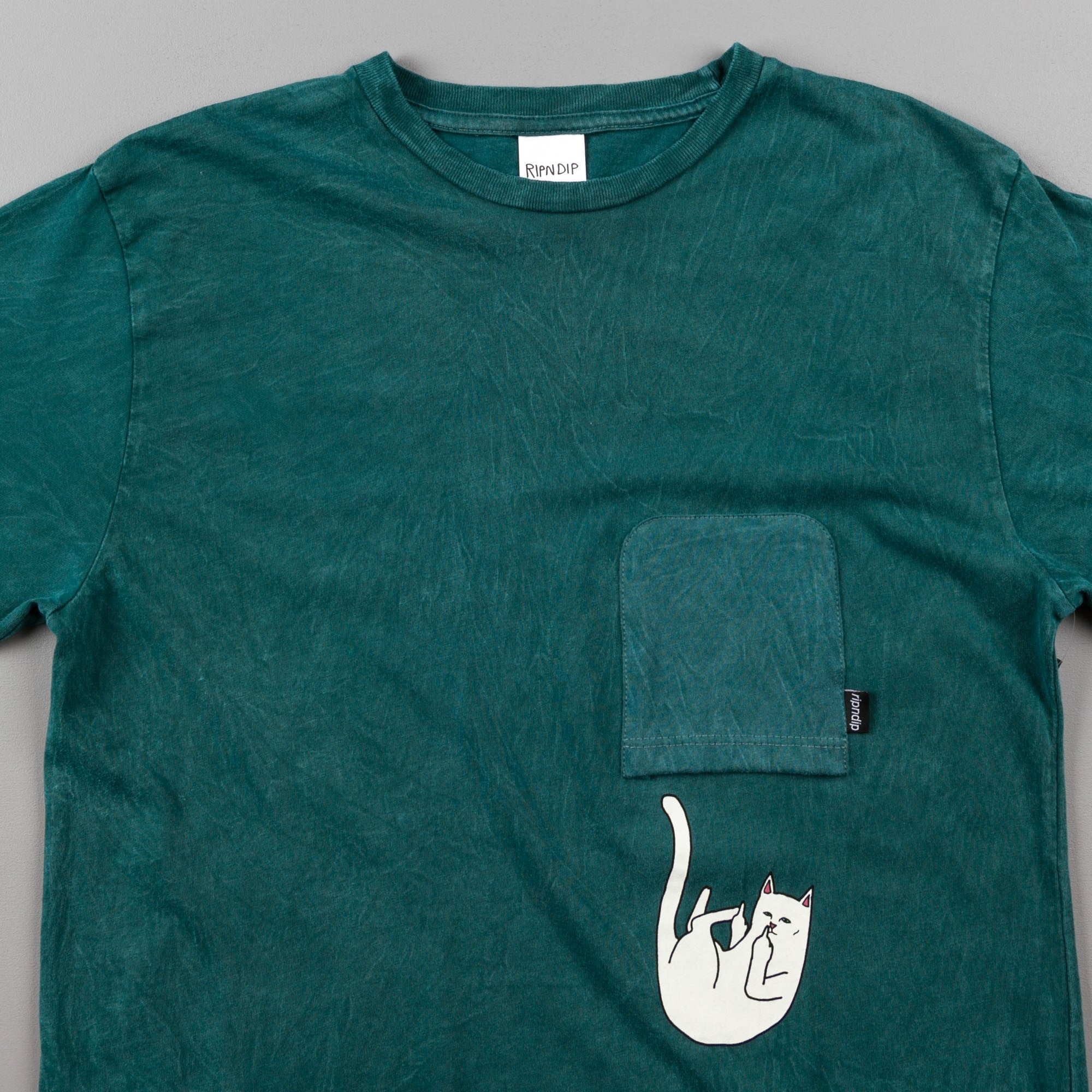Rip N Dip Falling For Nermal Pocket T-Shirt - Deep Sea Mineral Wash