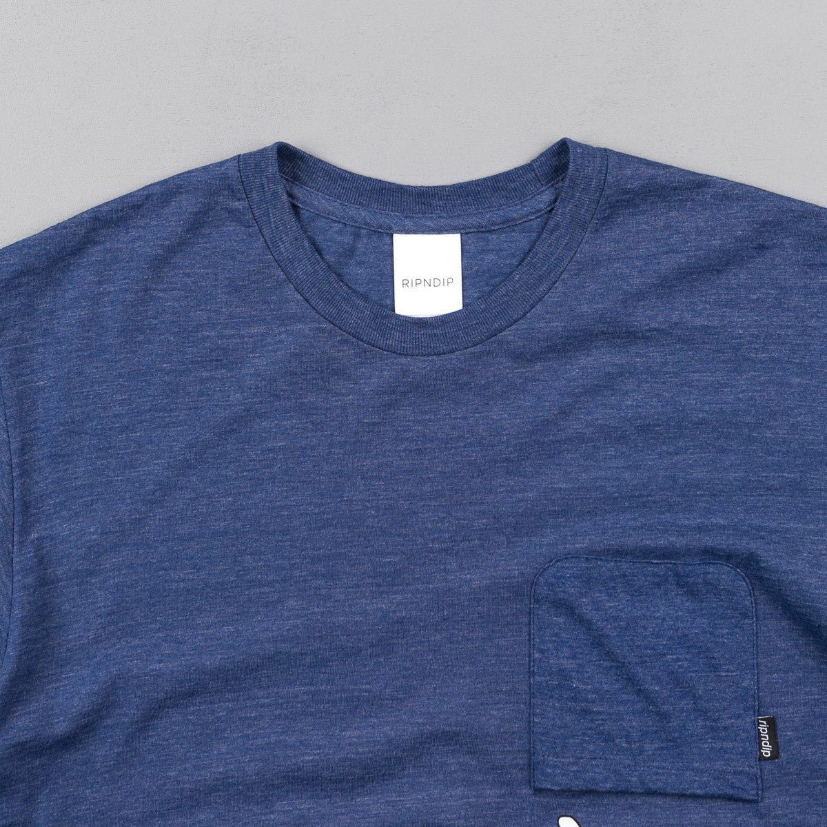 Rip N Dip Falling For Nermal Pocket T-Shirt - Navy Heather