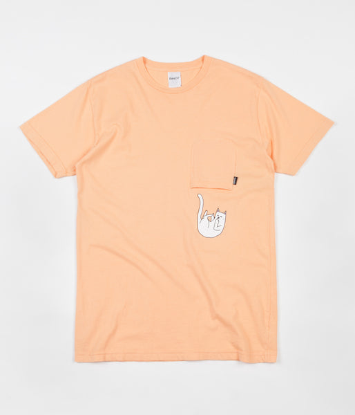 Rip N Dip Falling For Nermal Pocket T-Shirt - Peach