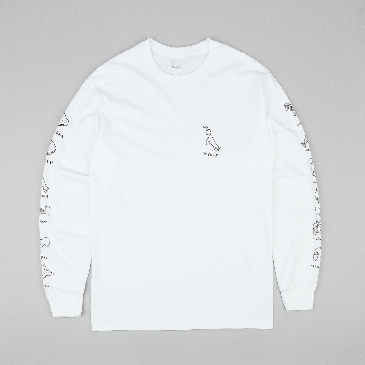 Rip N Dip Grabs L/S T-Shirt - White