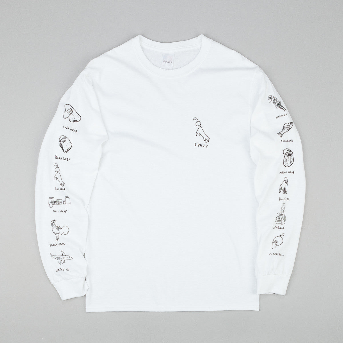 Rip N Dip Grabs Long Sleeve T-Shirt - White
