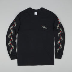 Rip N Dip Laser Shark Long Sleeve T-Shirt - Black