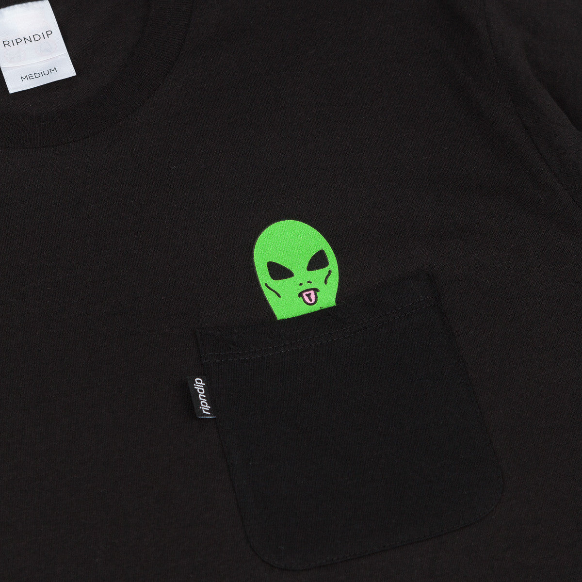 Rip N Dip Lord Alien Pocket T-Shirt - Black