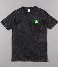 Rip N Dip Lord Alien Pocket T-Shirt - Black Mineral Wash