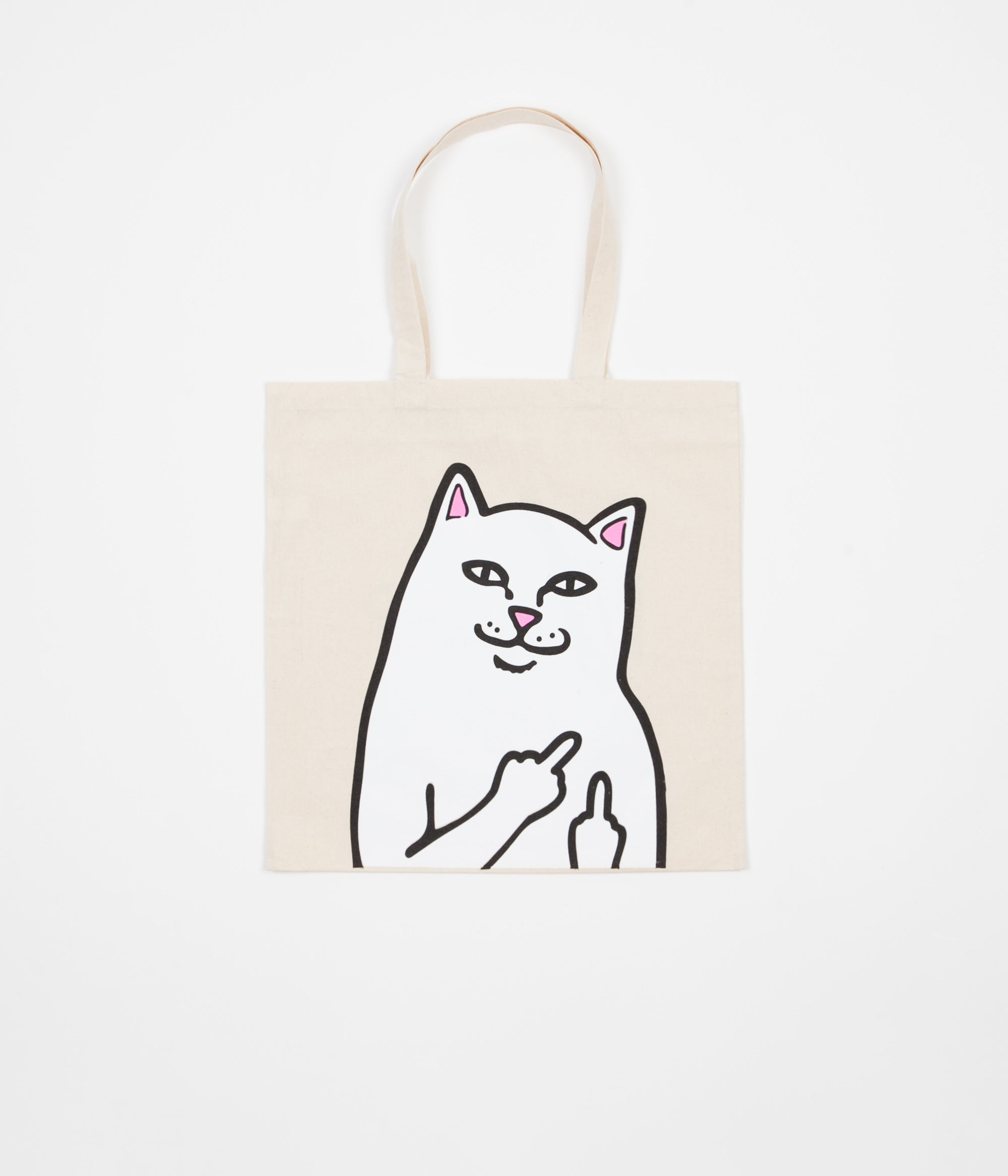 Rip N Dip Lord Nermal Canvas Tote Bag - Natural