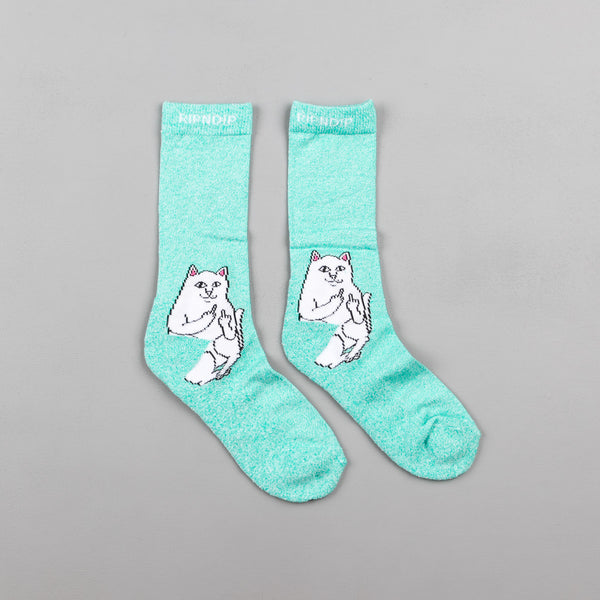 Rip N Dip Lord Nermal Heather Socks - Teal / Grey
