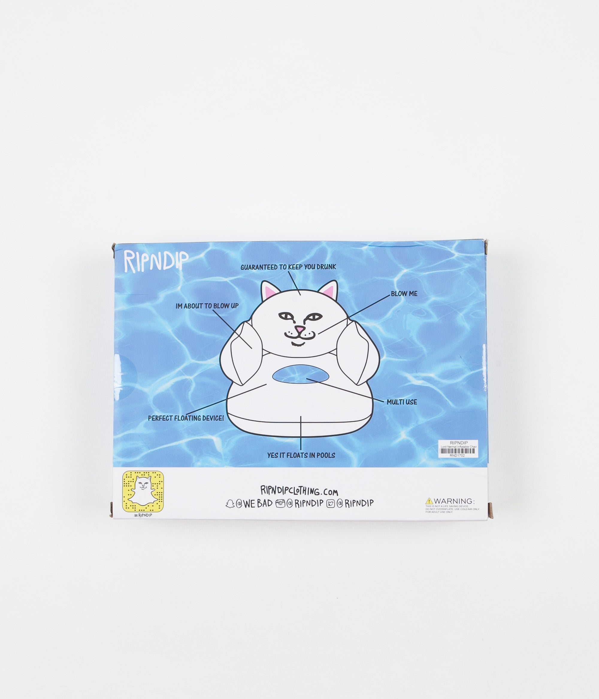 Rip N Dip Lord Nermal Inflatable Chair - White