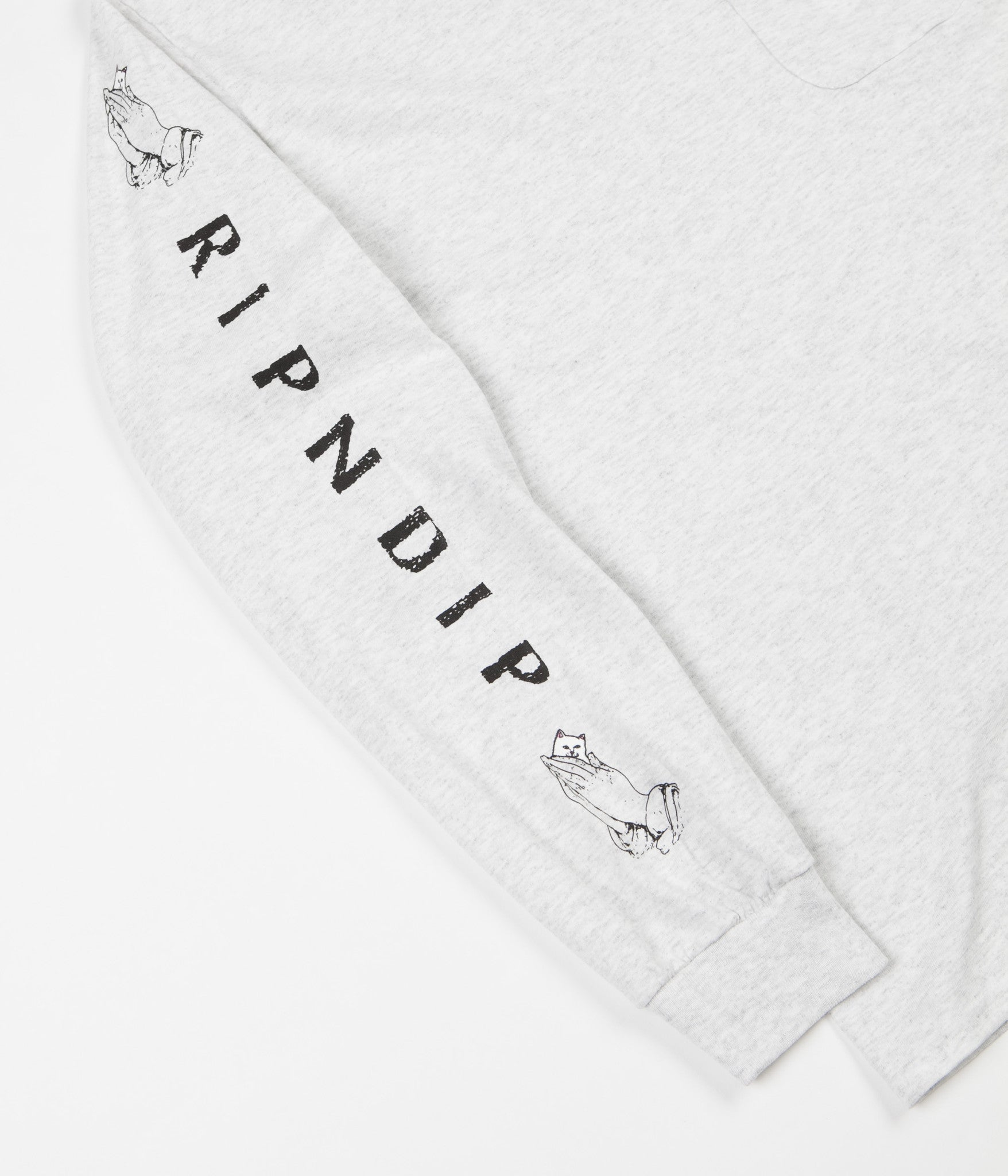 Rip N Dip Lord Nermal Long Sleeve T-Shirt - Athletic Grey