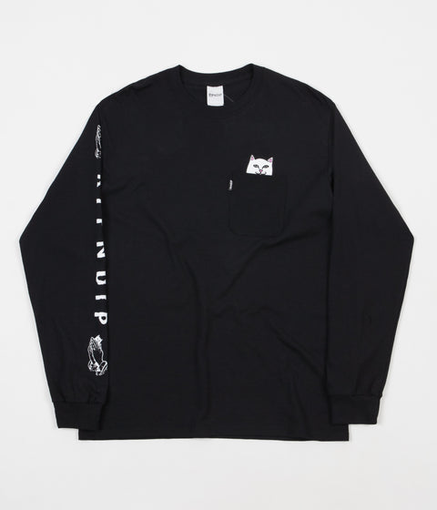 Rip N Dip Lord Nermal Long Sleeve T-Shirt - Black