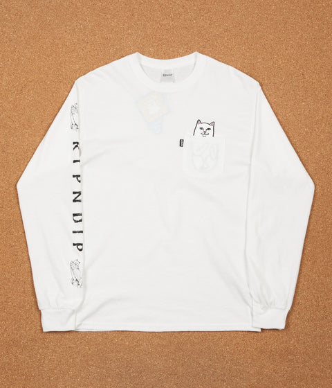 Rip N Dip Lord Nermal Long Sleeve T-Shirt - White
