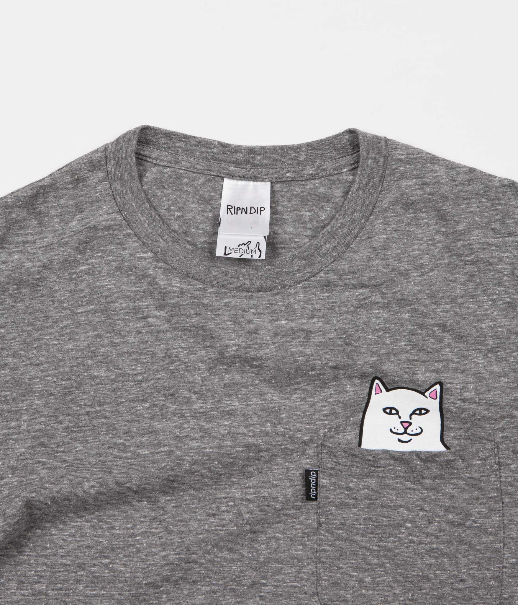 Rip N Dip Lord Nermal Pocket T-Shirt - Athletic Grey
