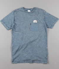 Rip N Dip Lord Nermal Pocket T-Shirt - Indigo Acid Wash