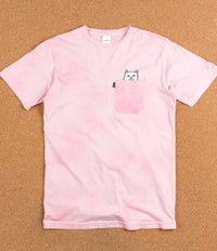 Rip N Dip Lord Nermal Pocket T-Shirt - Pink Mineral Wash