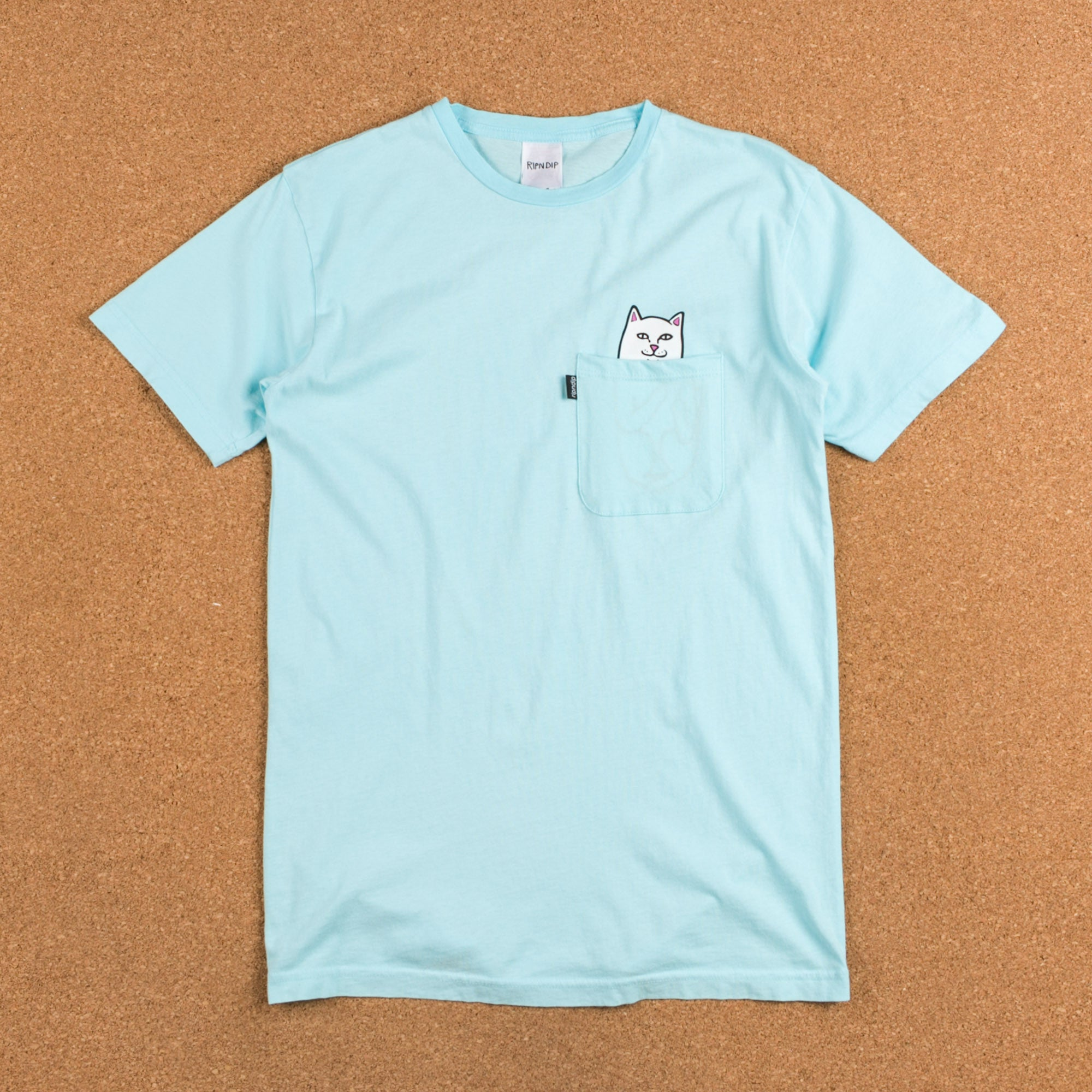 Rip N Dip Lord Nermal Pocket T-Shirt - Turquoise