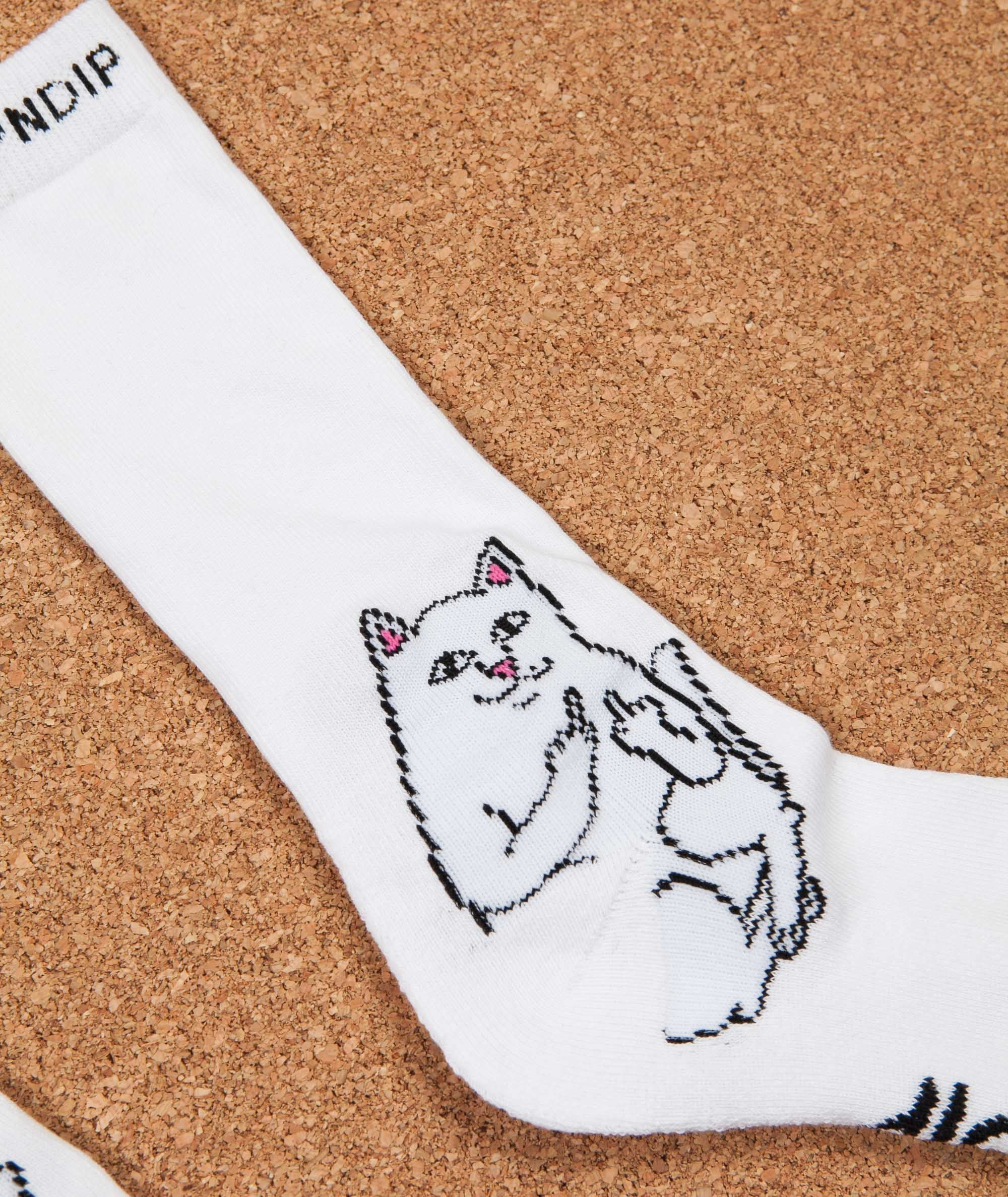 Rip N Dip Lord Nermal Socks - White
