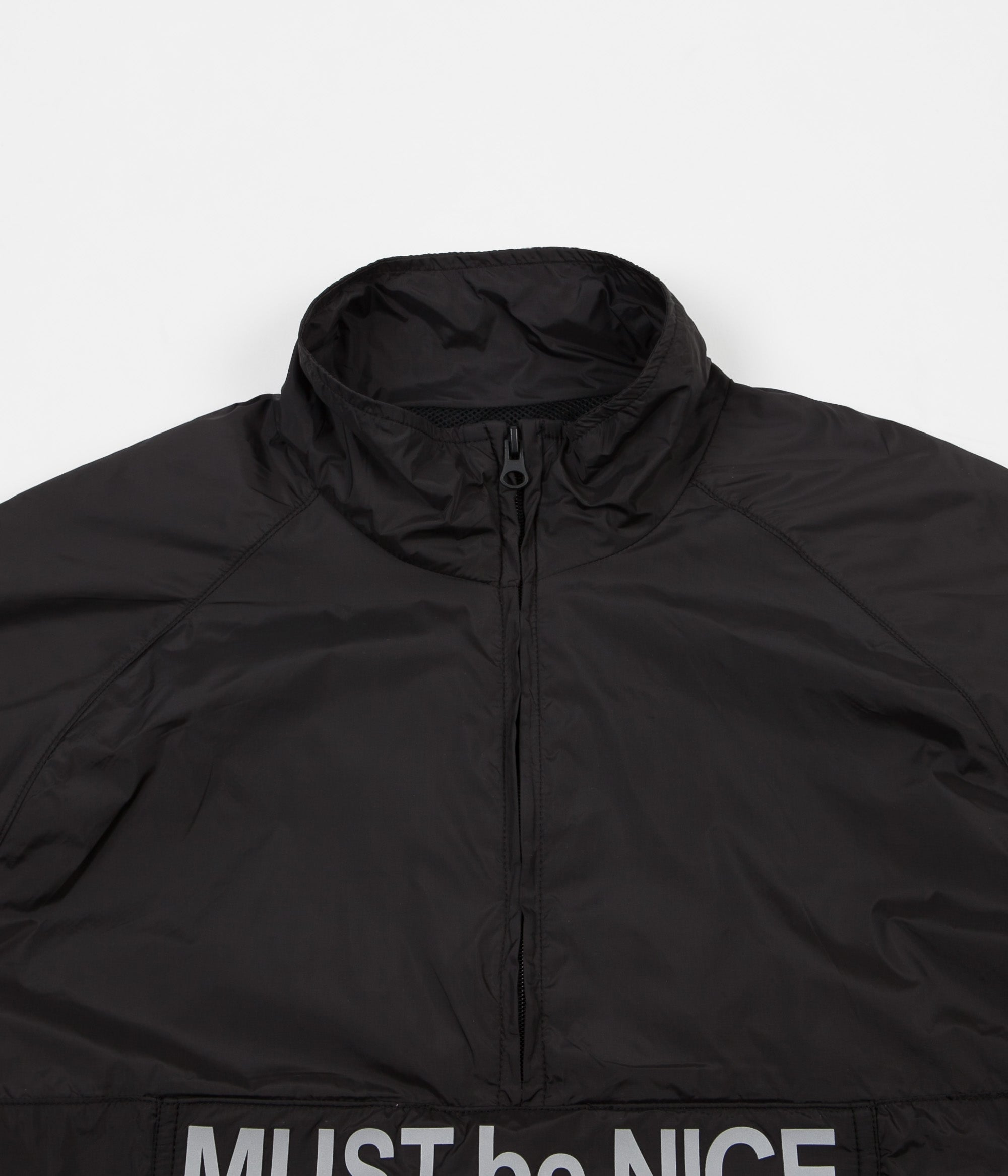 Rip N Dip Must Be Nice Half Zip Anorak Jacket - Black / 3M