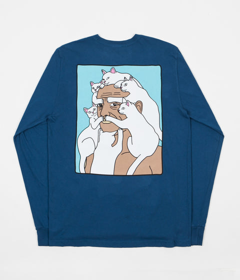 Rip N Dip Nerm Beard Long Sleeve T-Shirt - Cobalt Blue