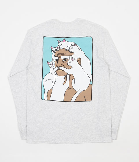 Rip N Dip Nerm Beard Long Sleeve T-Shirt - White Speckle
