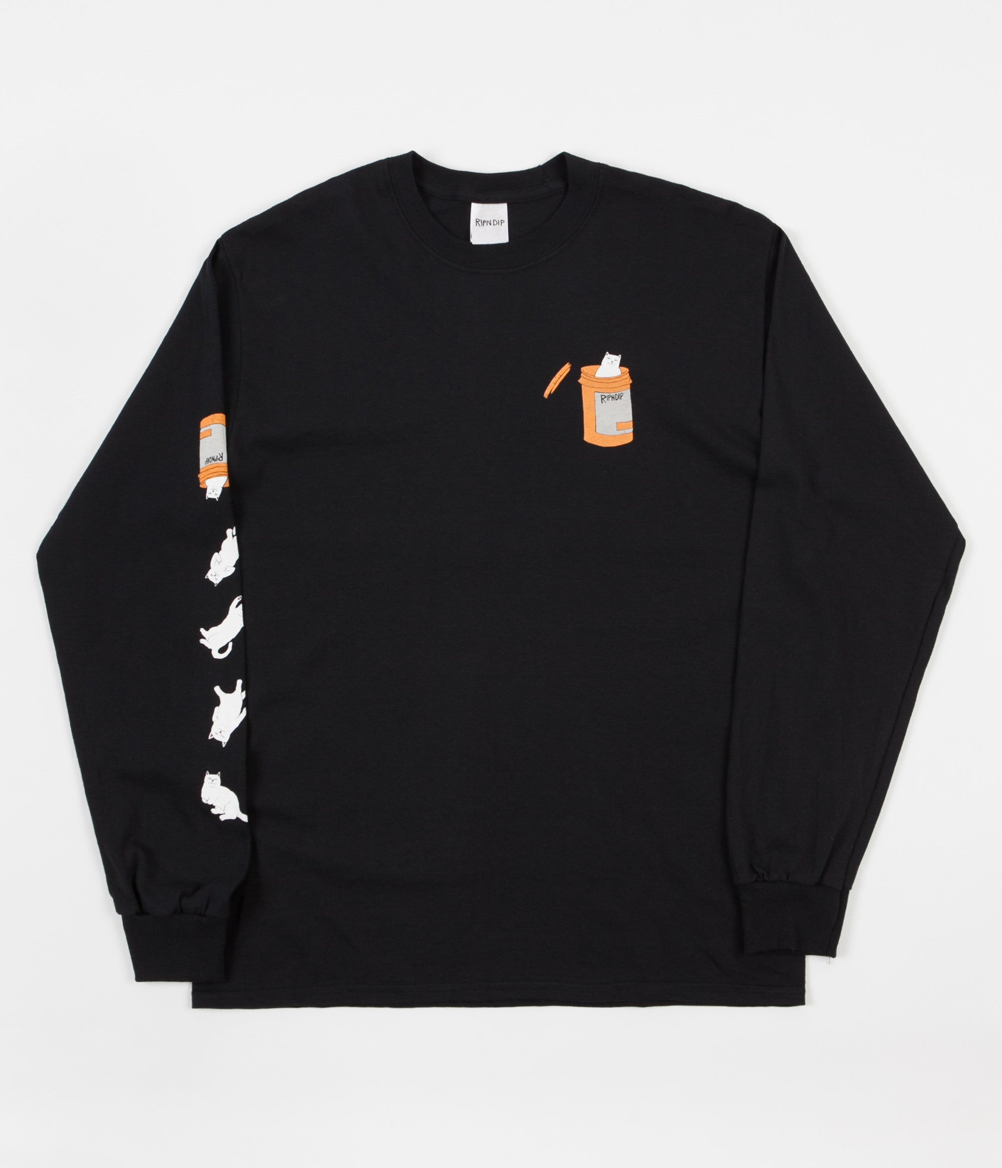 Rip N Dip Nermal Pills Long Sleeve T-Shirt - Black