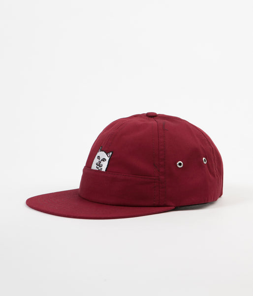 Rip N Dip Nermal Pocket Six Panel Cap - Maroon