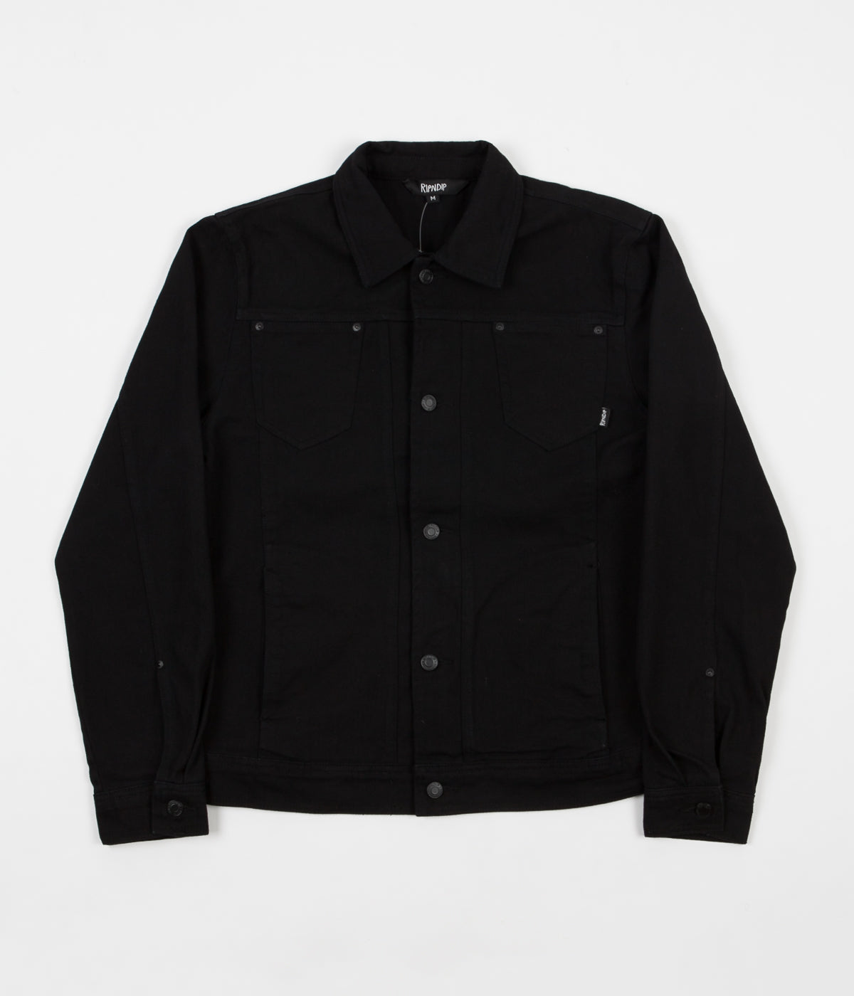 Rip N Dip Nermcasso Flower Denim Jacket - Black