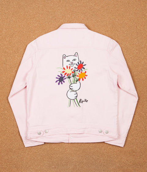 Rip N Dip Nermcasso Flower Denim Jacket - Pink