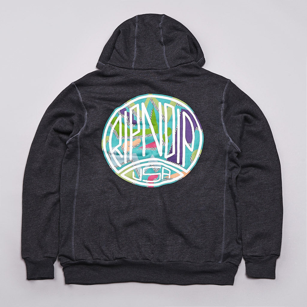 Rip N Dip Screech Logo Hooded Sweatshirt Charcoal Heather