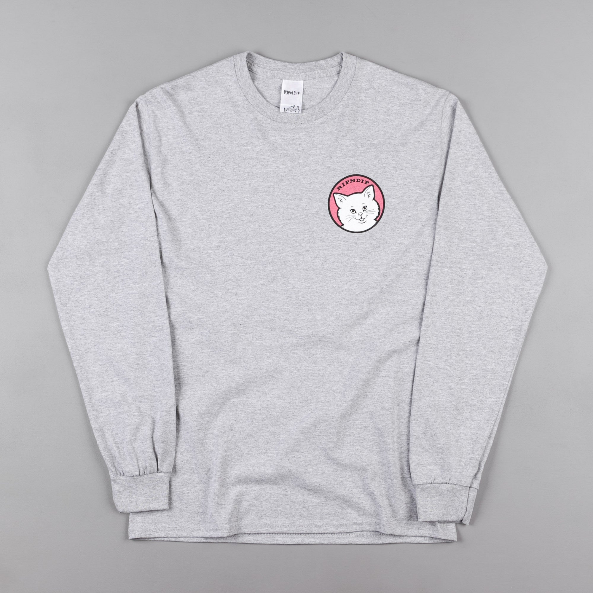 Rip N Dip Stop Being A Pussy Long Sleeve T-Shirt - Heather Grey