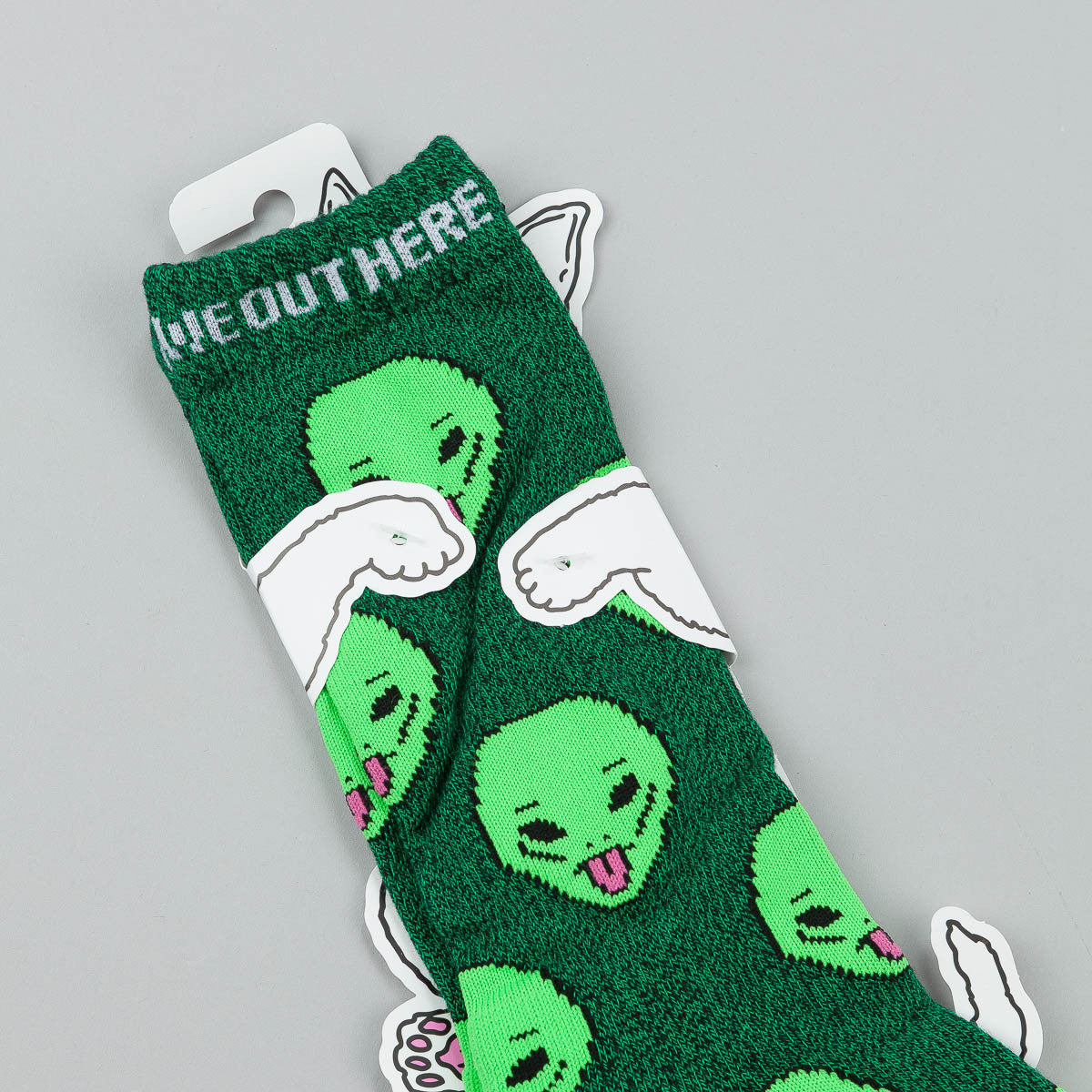 Rip N Dip We Out Here Socks - Green Heather