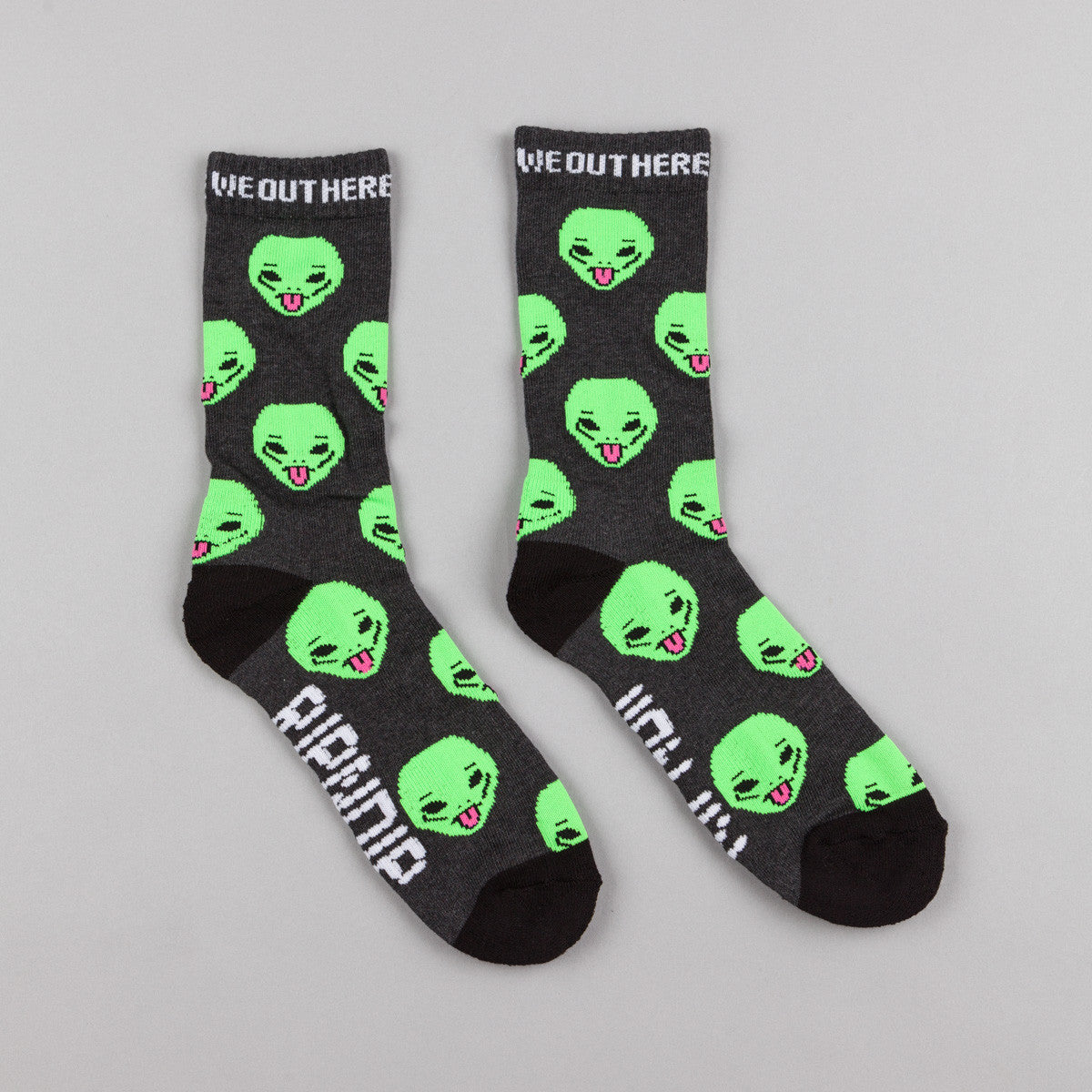 Rip N Dip We Out Here Socks - Heather