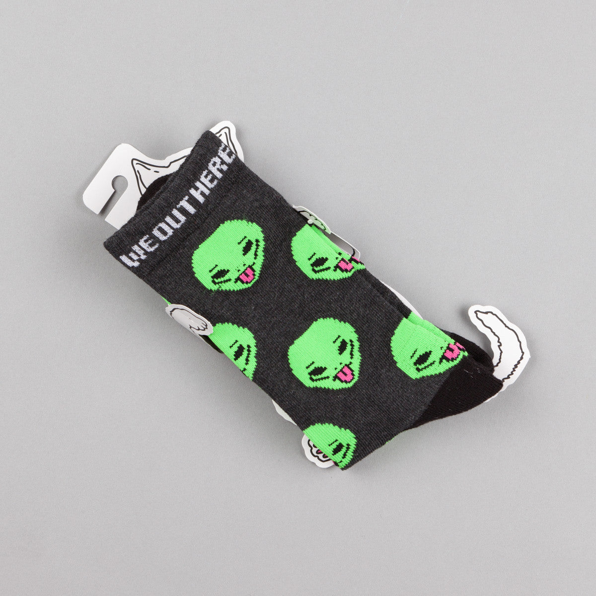 Rip N Dip We Out Here Socks - Heather Black