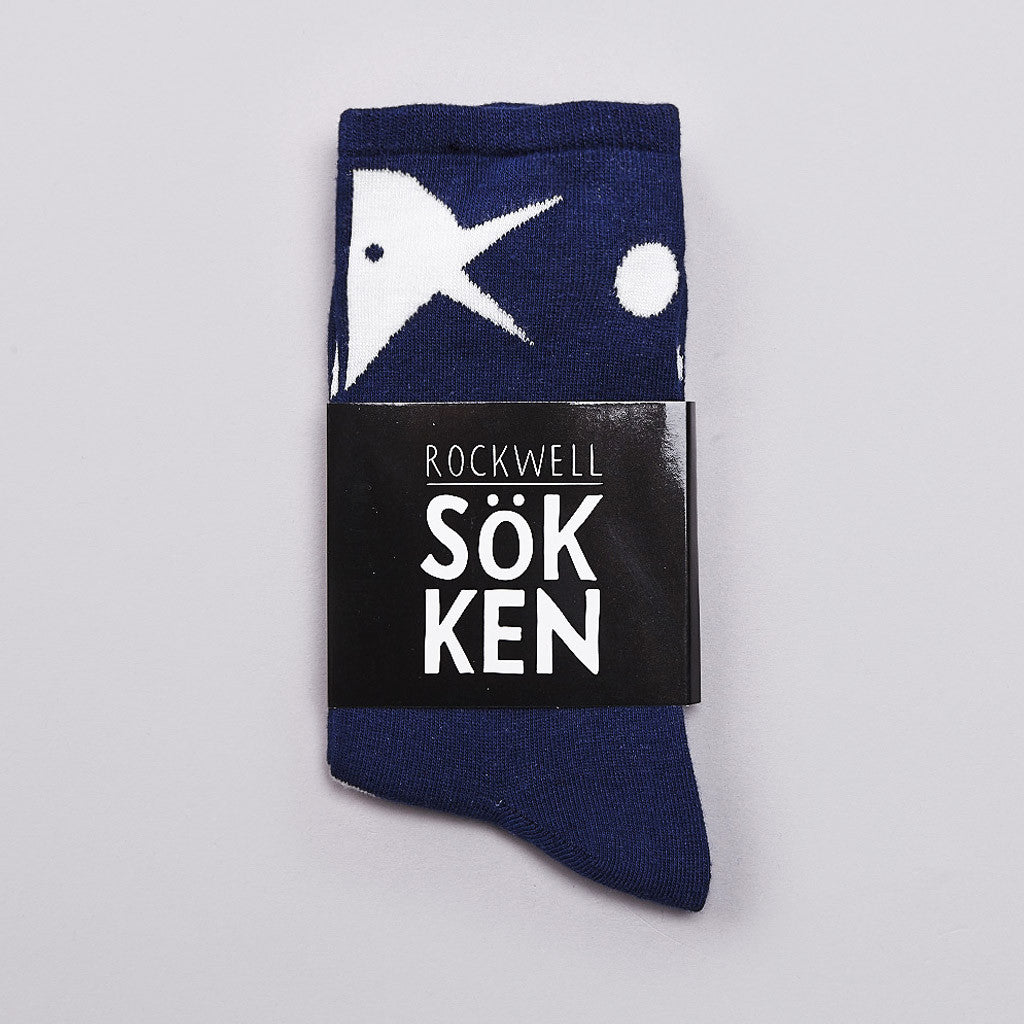 Rockwell Bird And Ball Socks Navy