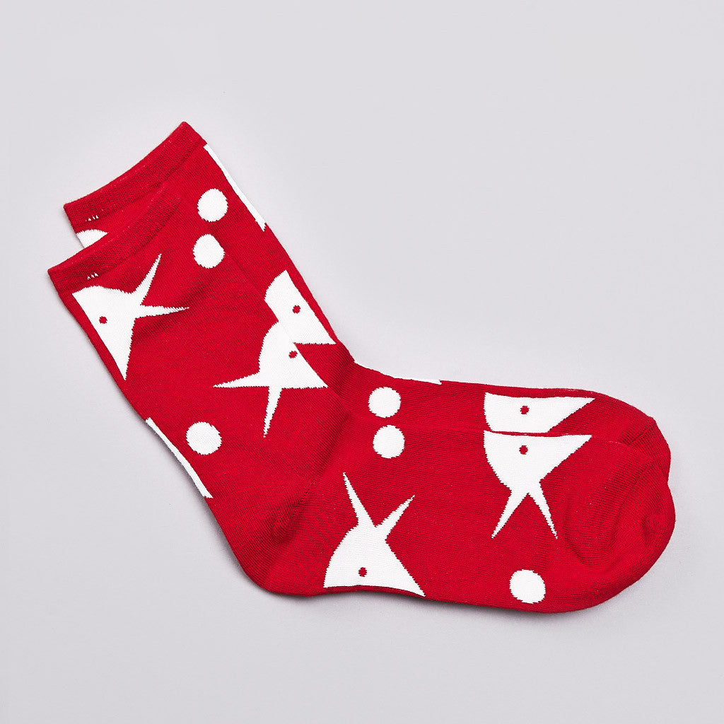 Rockwell Bird And Ball Socks Red