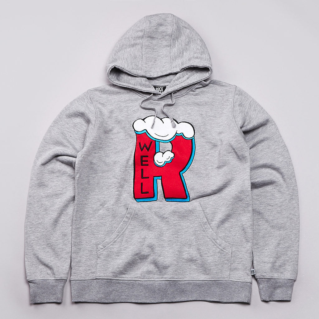 Rockwell Frosty hooded Sweatshirt Heather Grey