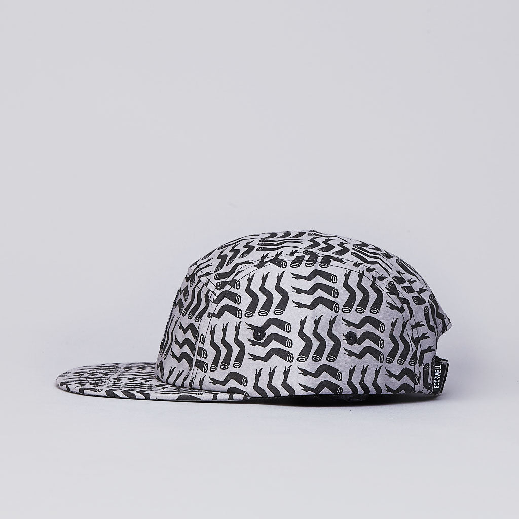 Rockwell Lots of Legs 5 Panel Camp Cap Grey