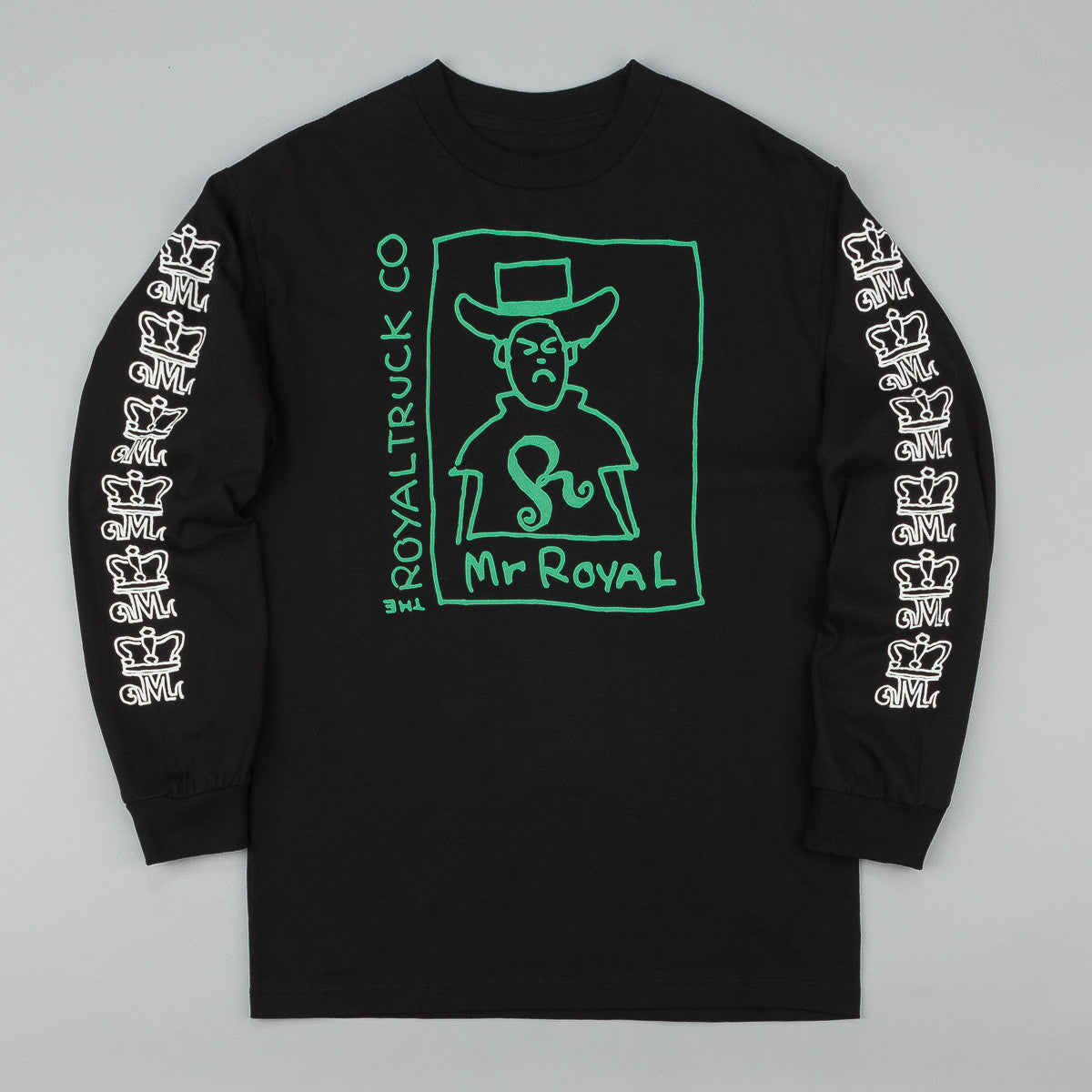 Royal Mr Royal Long Sleeve T-Shirt - Black