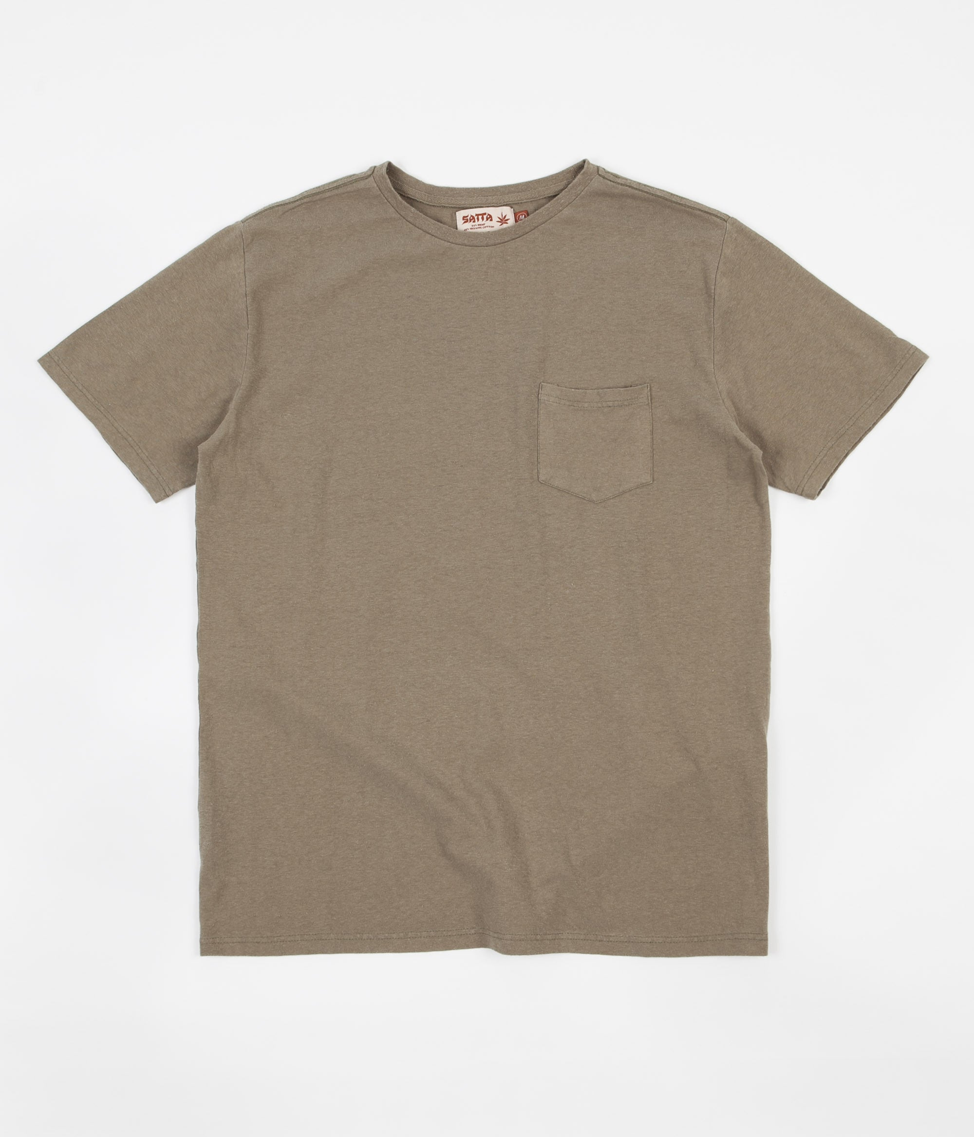 Satta Basic Hemp Pocket T-Shirt - Seafoam