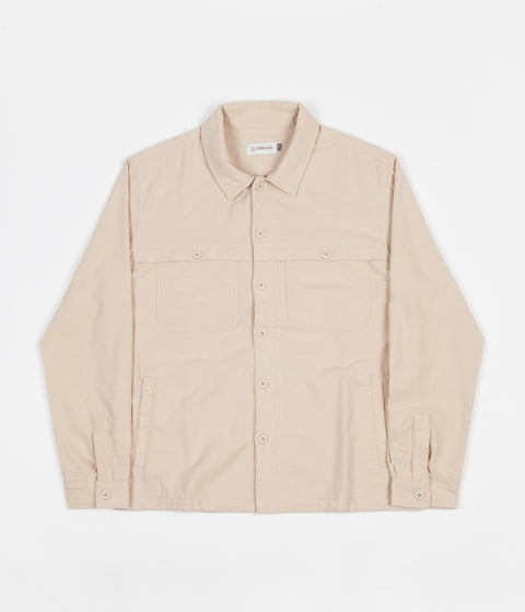 Satta Front Yoke Overshirt - Almond Milk