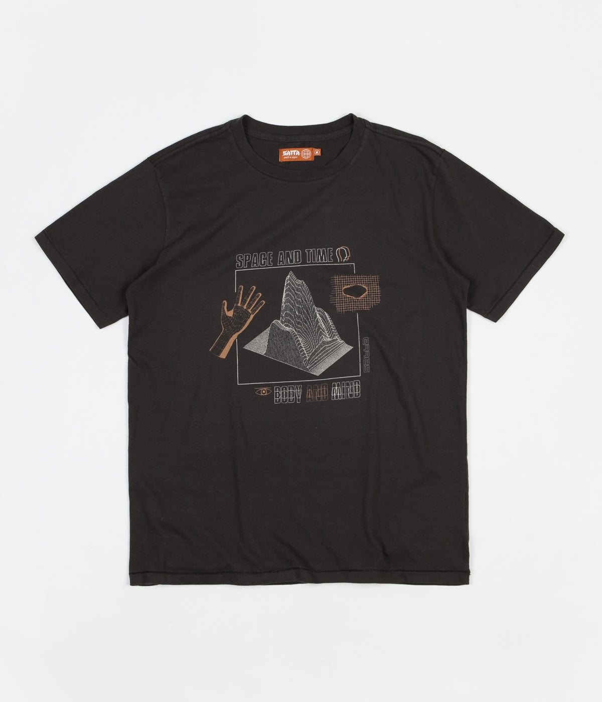 Satta Space & Time T-Shirt - Washed Black