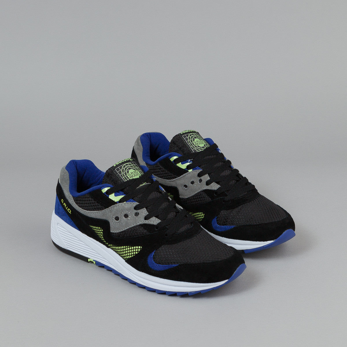 Saucony Grid 8000 CL Shoes - Black / Grey / Purple