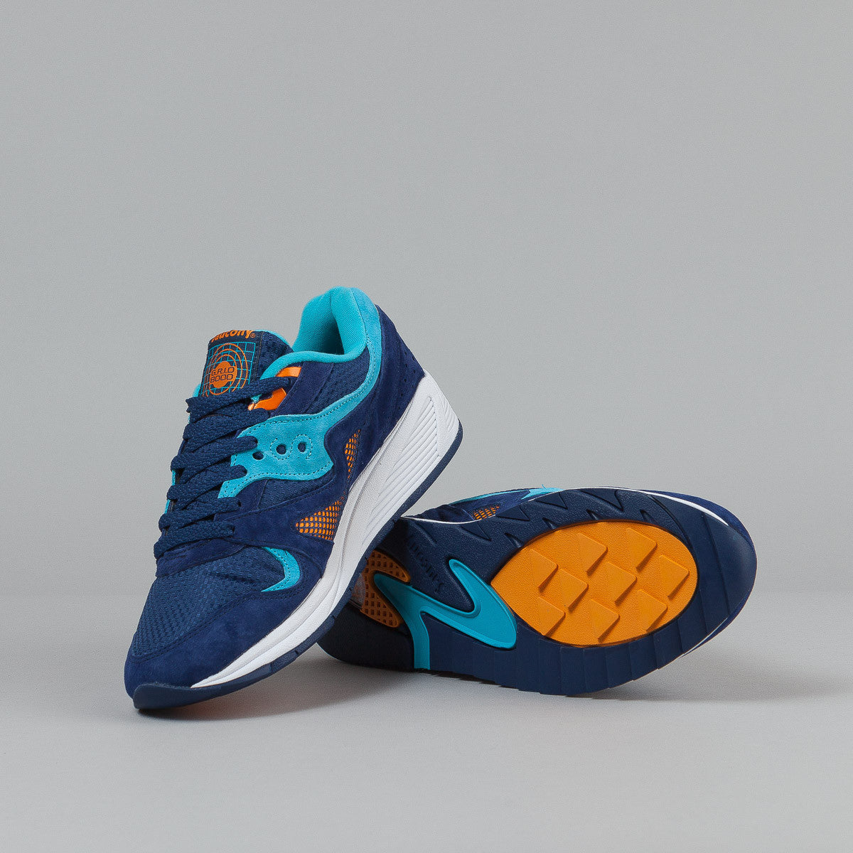Saucony Grid 8000 CL Shoes - Blue / Light Blue