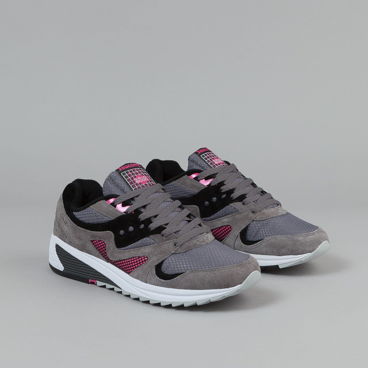 Saucony Grid 8000 CL Shoes - Charcoal / Grey