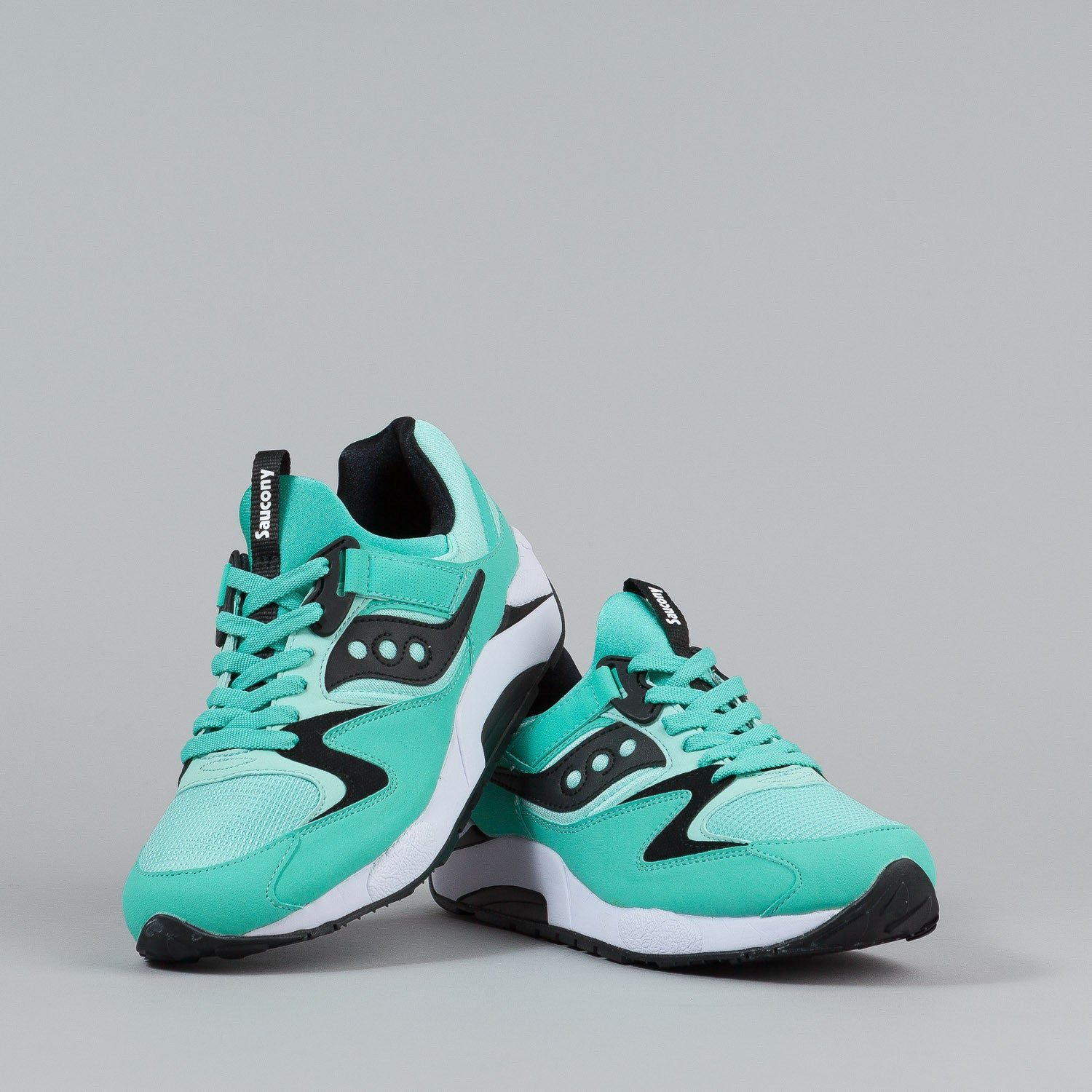 Saucony Grid 9000 Shoes - Mint / Black