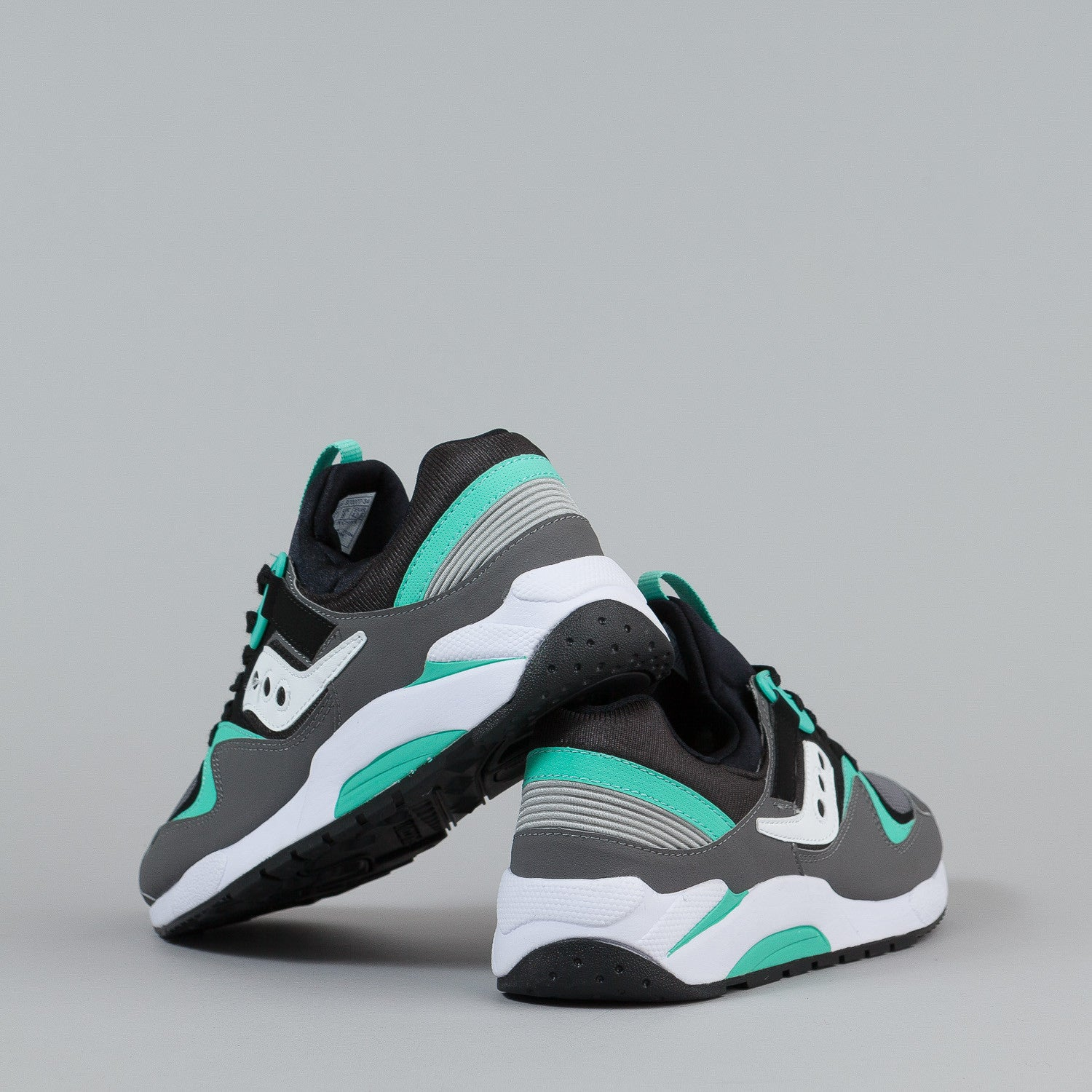 Saucony Grid 9000 Shoes - Grey / Black / Mint