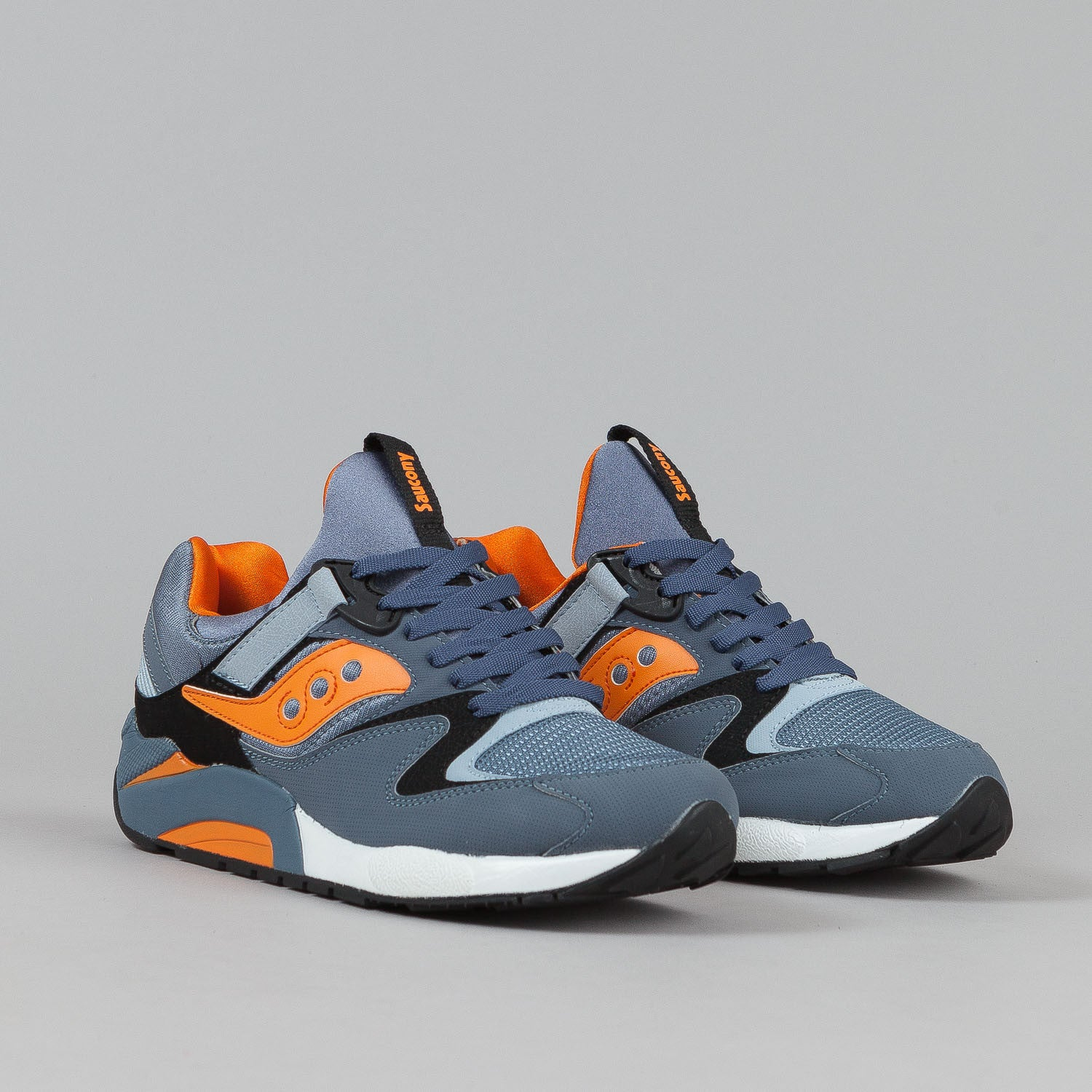 Saucony Grid 9000 Shoes - Blue / Orange / Black