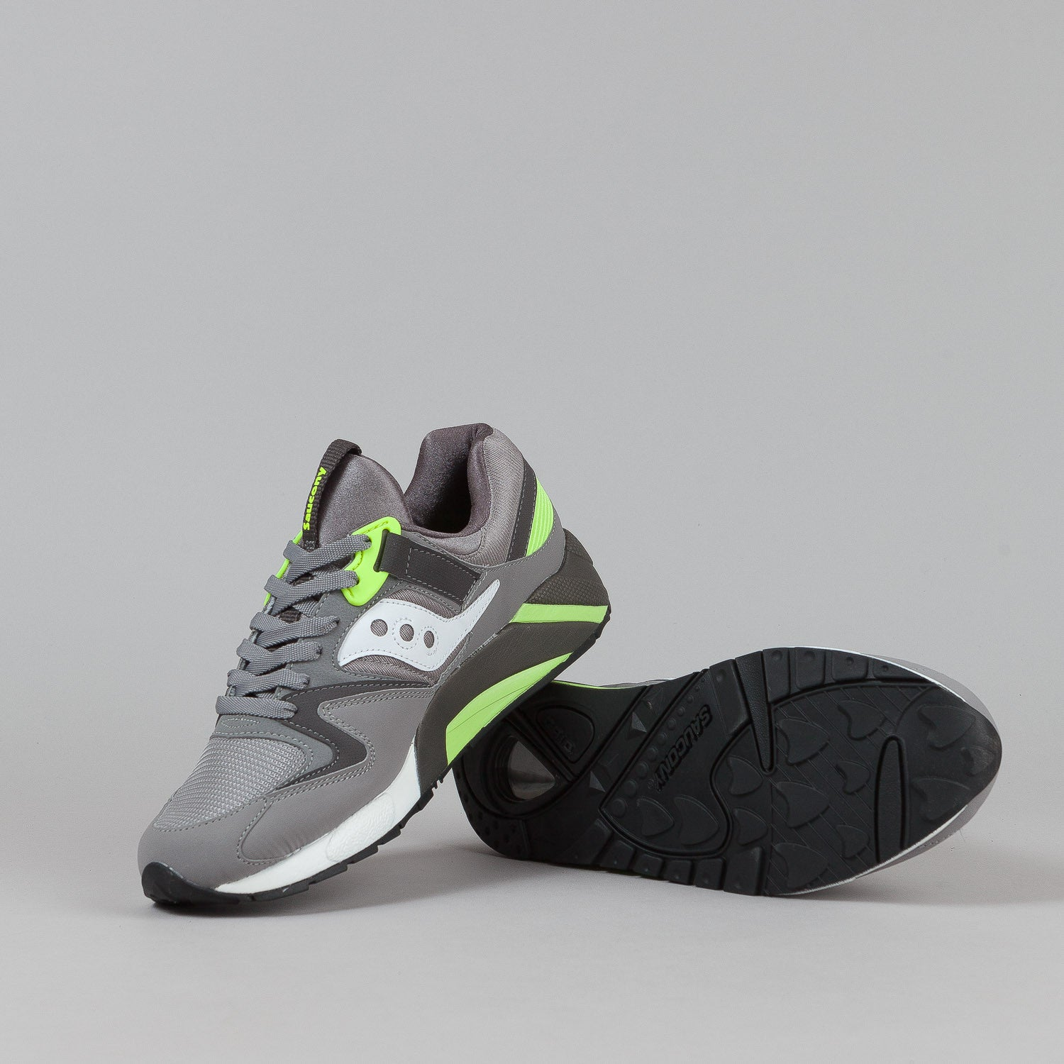 Saucony Grid 9000 Shoes - Grey / Citron